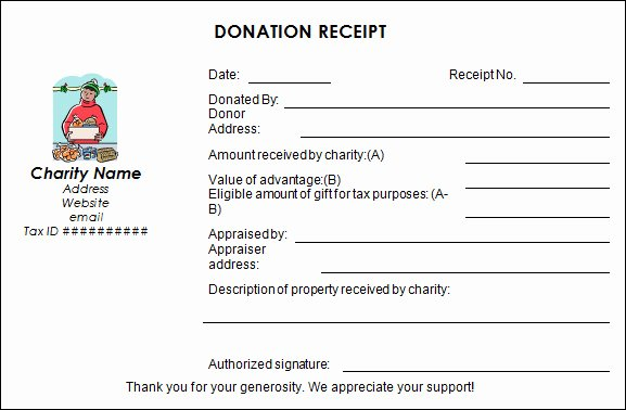 Donation Receipt Template Pdf Luxury Sample Donation Receipt Template 17 Free Documents In