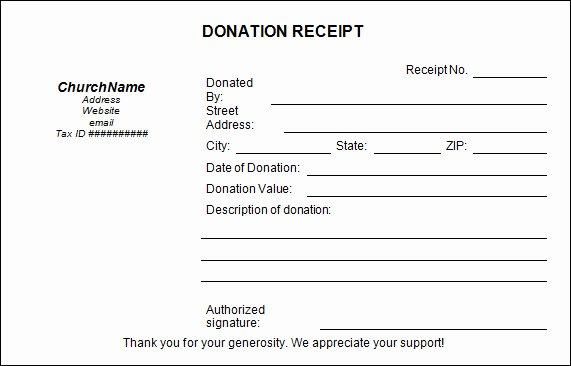 Donation Receipt Template Pdf Unique 20 Donation Receipt Templates Pdf Word Excel Pages