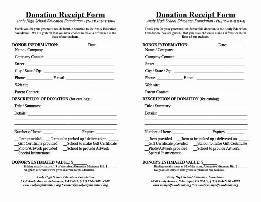 Donation Receipt Template Pdf Unique 40 Donation Receipt Templates & Letters [goodwill Non Profit]