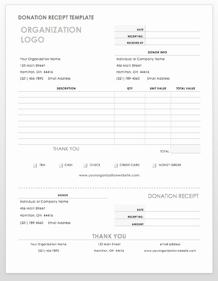 Donation Receipt Template Word Luxury 55 Free Invoice Templates