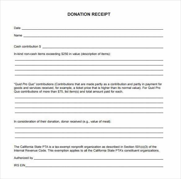 Donation Tax Receipt Template Best Of 20 Donation Receipt Templates Pdf Word Excel Pages