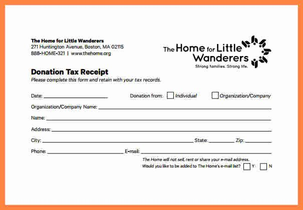 Donation Tax Receipt Template Elegant 4 Donation Slip Template