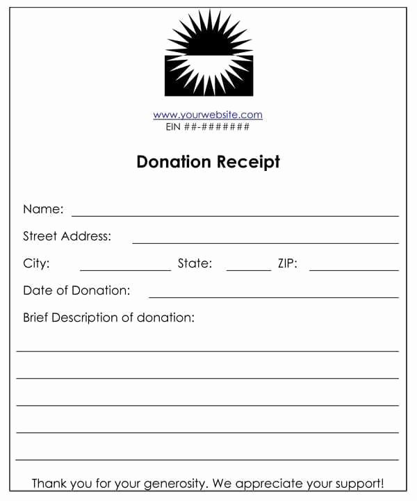 Donation Tax Receipt Template Inspirational 6 Cash Funds Donation Receipt Templates – Word Templates