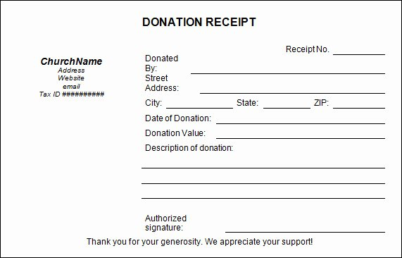 Donation Tax Receipt Template New 20 Donation Receipt Templates Pdf Word Excel Pages
