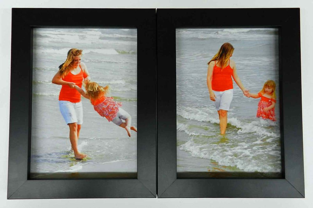 Double Ten Frame Template Beautiful 3 5x5 4x5 4x6 5x7 8x10 Matte Black Wood Picture