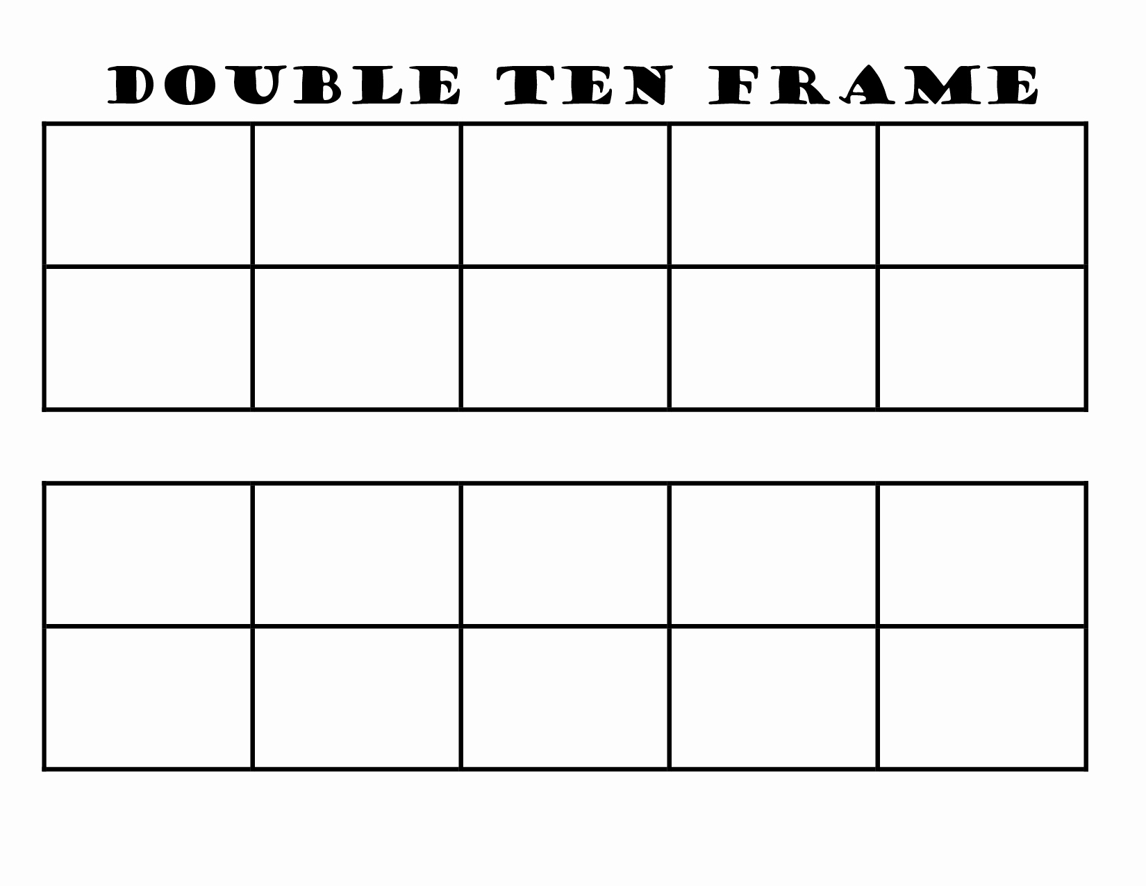 Double Ten Frame Template Beautiful 6 Best Of 10 Frame Template Printable Blank