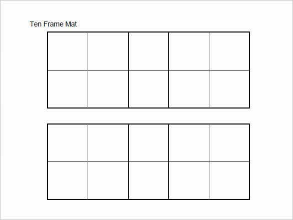 Double Ten Frame Template Beautiful 6 Ten Frame Templates Doc Pdf