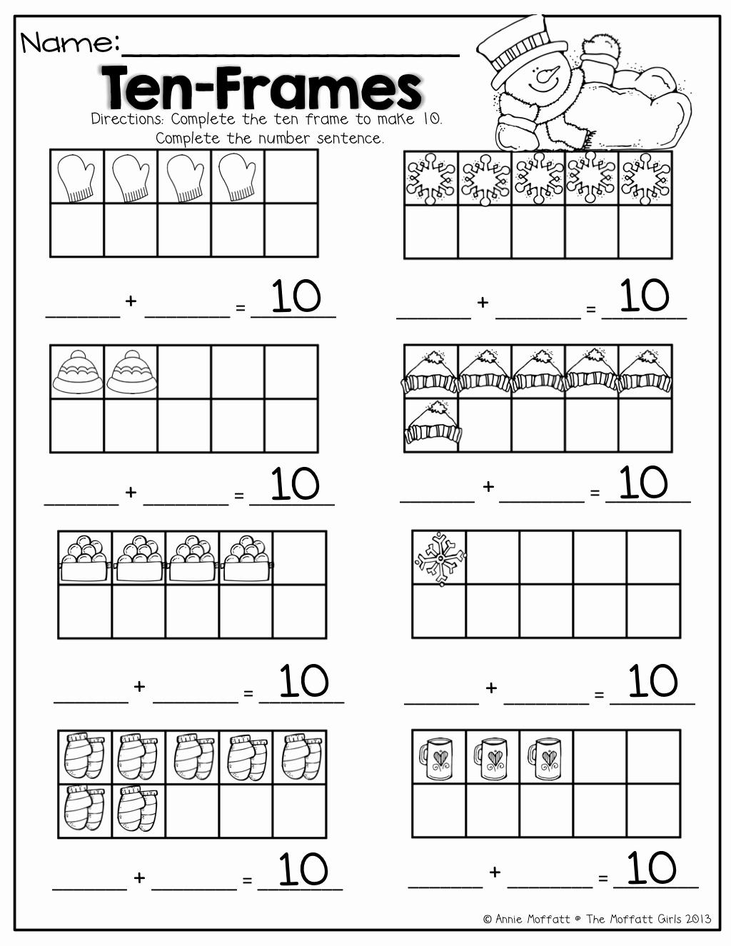 Double Ten Frame Template Beautiful Ten Frame Worksheets Kindergarten Worksheet Adcedu Make A
