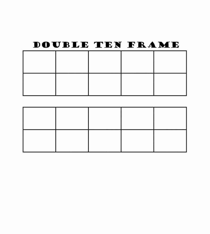 Double Ten Frame Template Fresh 36 Printable Ten Frame Templates Free Template Lab