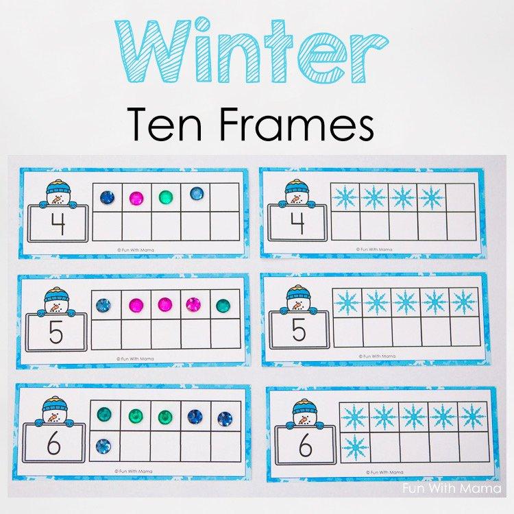 Double Ten Frame Template Unique Snowman Winter Ten Frame Printable Fun with Mama