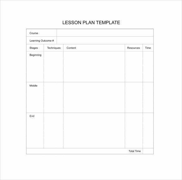 Downloadable Lesson Plan Template Best Of 11 Sample Blank Lesson Plans