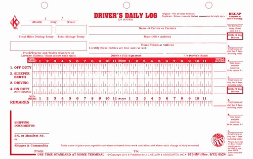 Drivers Log Book Template Awesome Daily Logs Template