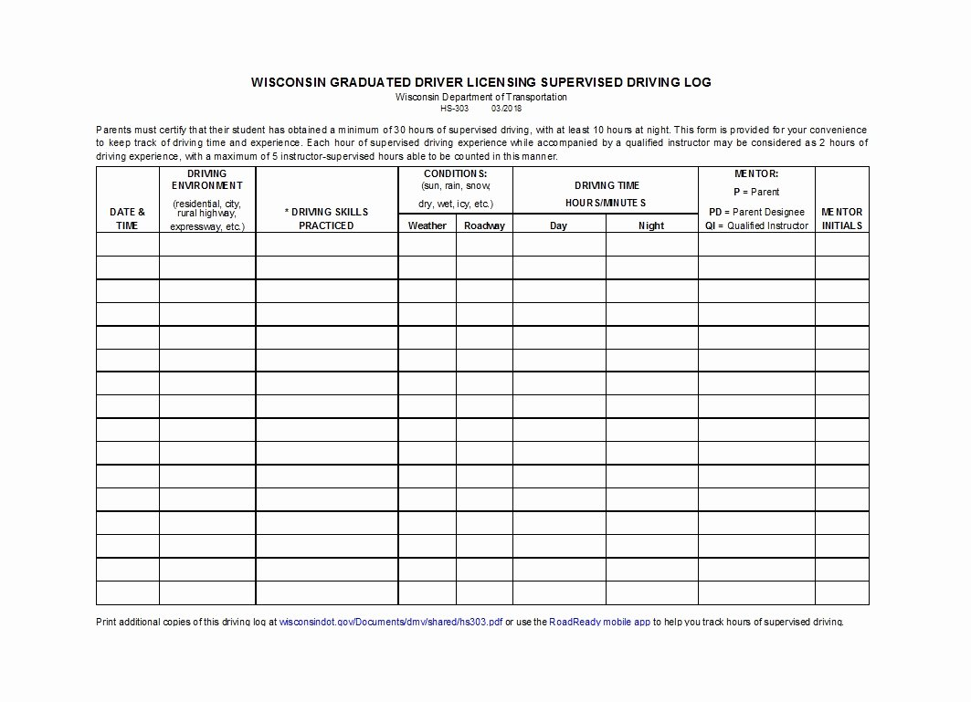 Drivers Log Book Template Unique 50 Printable Driver S Daily Log Books [templates & Examples]