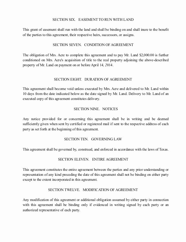 Driveway Easement Agreement Elegant Agreement to Convey Driveway Easement