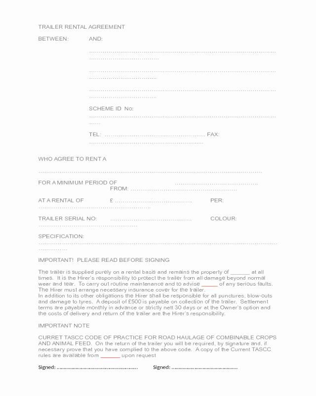 Driveway Easement Agreement Lovely 2019 Trailer Rental Agreement Fillable Printable Pdf