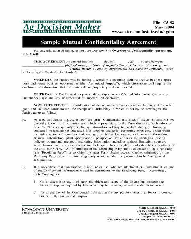 Driveway Easement Agreement New 2018 Confidentiality Agreement Template Fillable