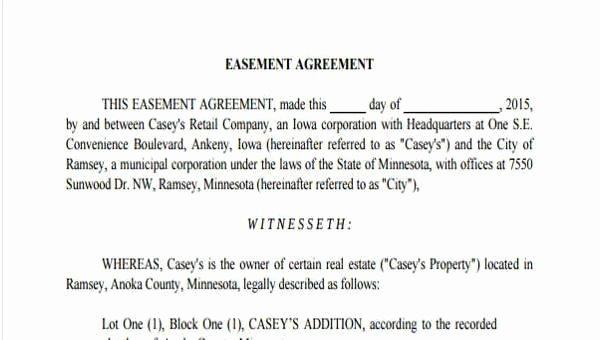 Driveway Easement Agreement Unique Sample Driveway Easement Agreement forms 7 Free