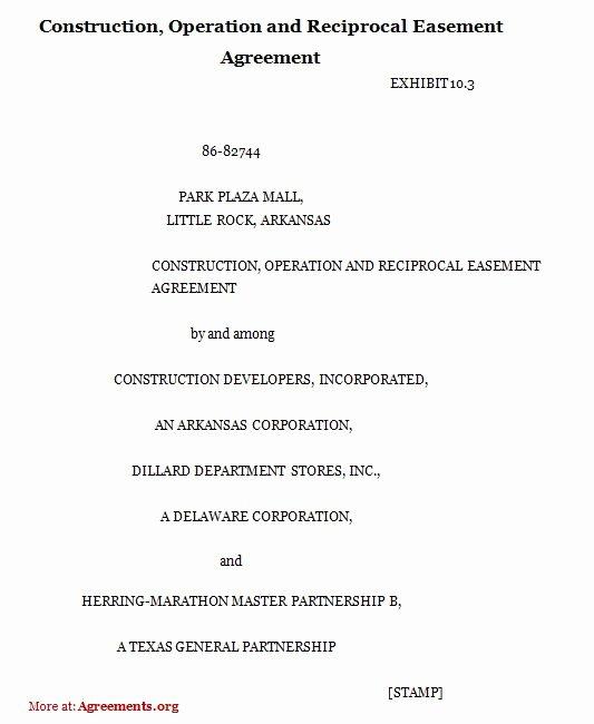 Driveway Easement Agreement Unique Sample Easement Language