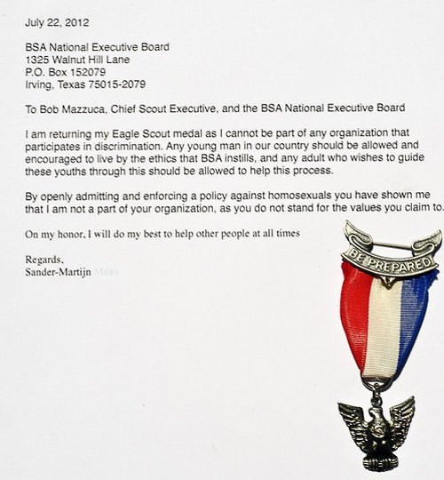 Eagle Letter Of Ambition Example Awesome Eagle Scouts Publicly Reject Gay Discriminatory Policy