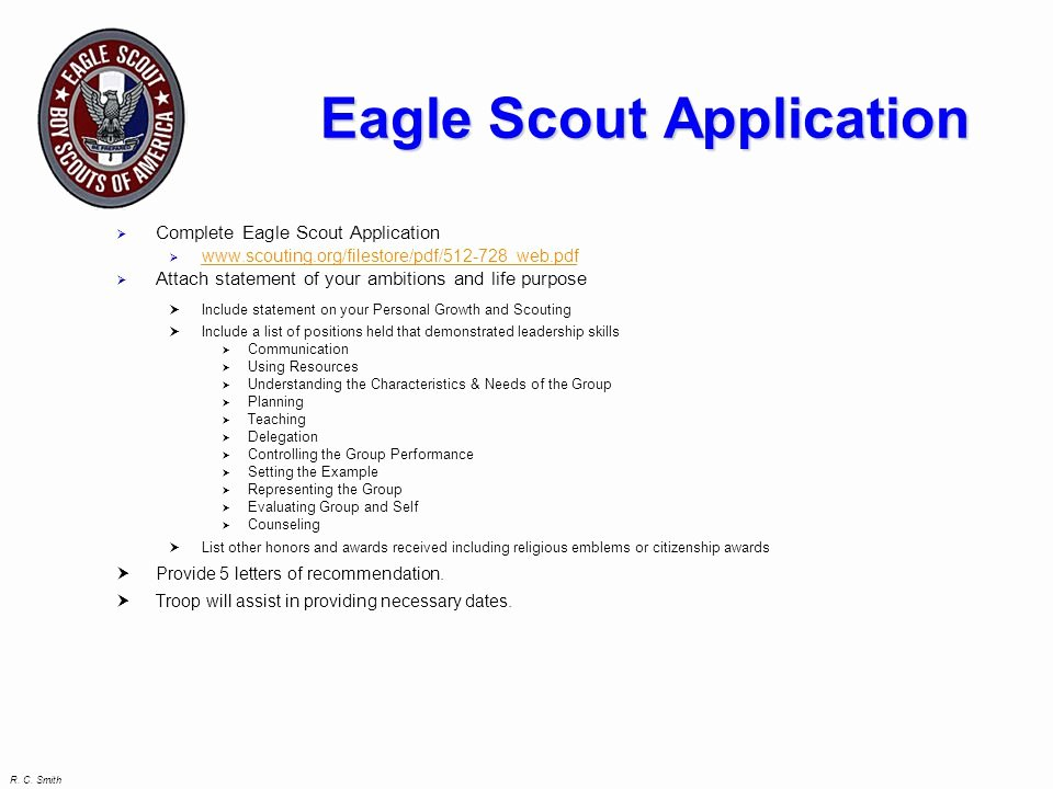 Eagle Letter Of Ambition Example Beautiful Eagle Candidate Seminar Ppt