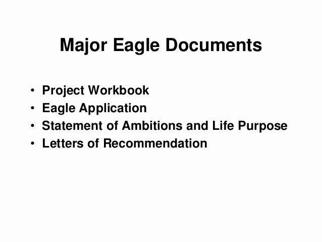 Eagle Letter Of Ambition Example New Eagle Scout Life Purpose Essay Mfacourses565 Web Fc2