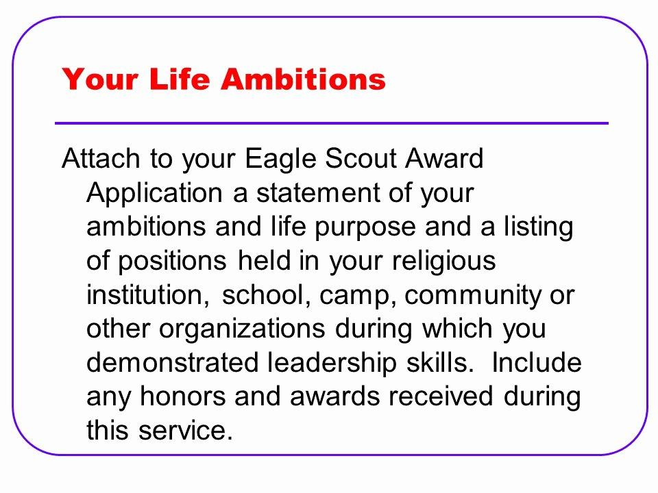 Eagle Letter Of Ambition Lovely Eagle Scout Letter Ambition Eletter Co