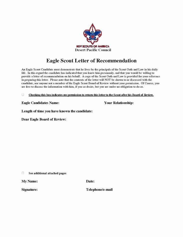 Eagle Letter Of Ambition Unique 11 Best Eagle Scout Letters Of Re Mendation Images On