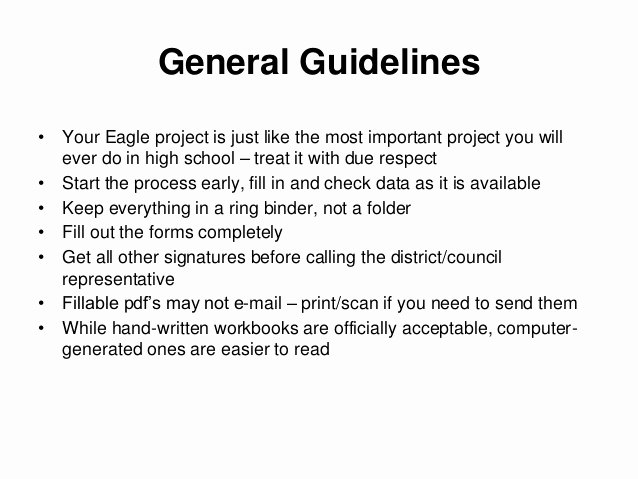 Eagle Scout Letter Of Ambition Example Beautiful Eagle Scout Project Documentation