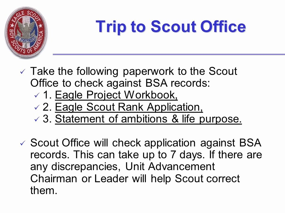 Eagle Scout Letter Of Ambition Example Elegant the Eagle Scout Leadership Service Project Ppt Video
