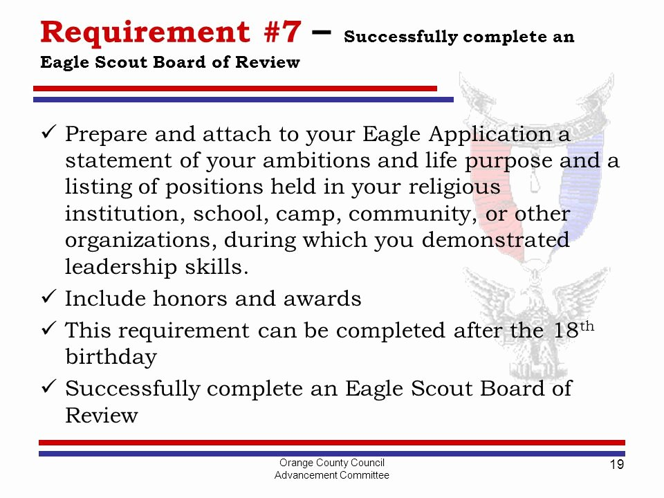 Eagle Scout Letter Of Ambition Example Inspirational Life to Eagle for Leaders Ppt Video Online