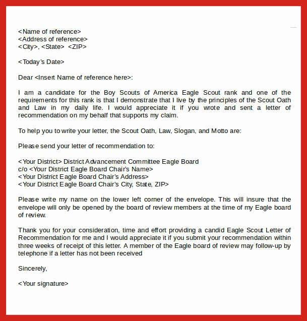 Eagle Scout Recommendation Letter Beautiful Eagle Scout Letters