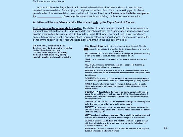Eagle Scout Recommendation Letter Lovely Eagle Scout Parent Re Mendation Letter Template