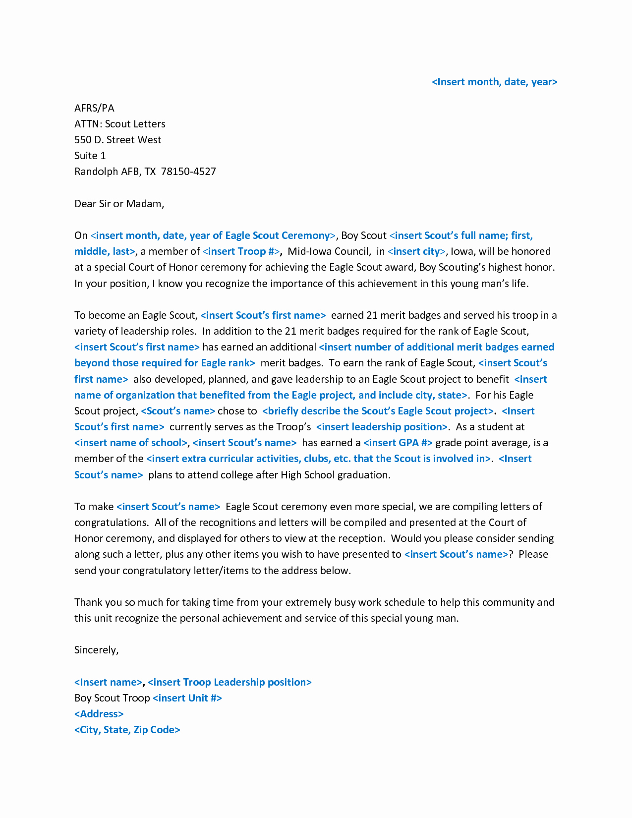 Eagle Scout Recommendation Letter New Eagle Scout Letter Of Re Mendation Yahoo Image