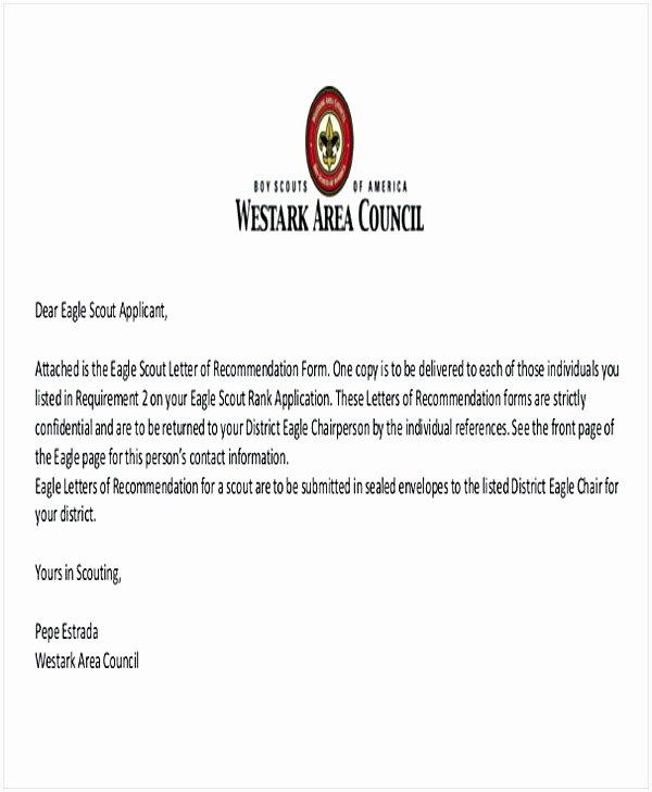 Eagle Scout Recommendation Letter Sample Awesome Eagle Scout Letter Of Re Mendation Sample From Parents