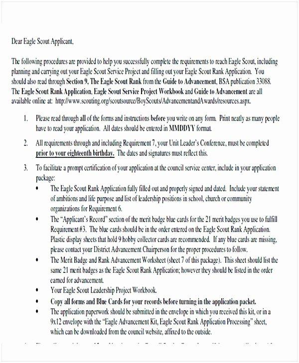 Eagle Scout Recommendation Letter Sample Beautiful Eagle Scout Letter Of Re Mendation Sample From Parents