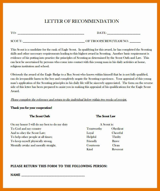 Eagle Scout Recommendation Letter Sample Elegant 8 9 Eagle Scout Re Mendation Letters