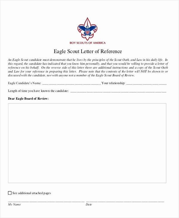 Eagle Scout Recommendation Letter Sample Fresh Eagle Scout Letter Re Mendation