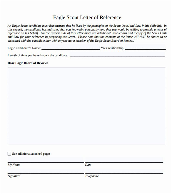 Eagle Scout Recommendation Letter Samples Best Of 10 Eagle Scout Letter Of Re Mendation to Download for