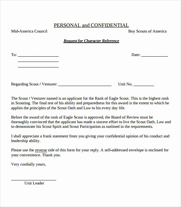Eagle Scout Recommendation Letter Samples New 10 Eagle Scout Letter Of Re Mendation to Download for
