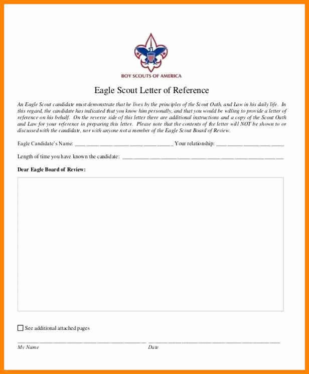 Eagle Scout Recommendation Letter Template New 15 Eagle Scout Re Mendation Letter Template