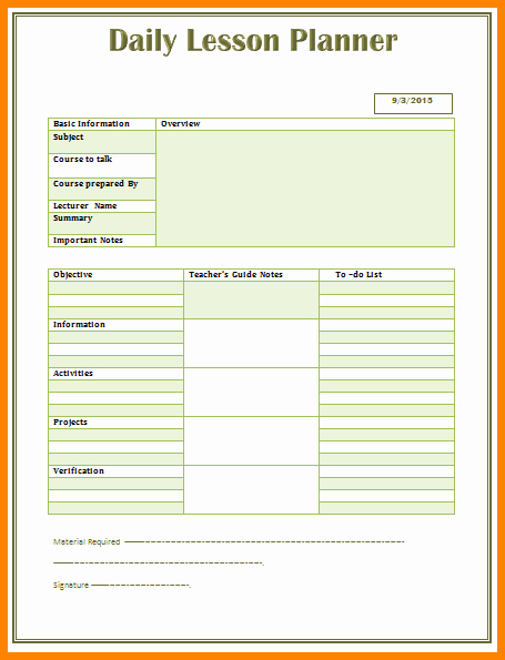 Easy Lesson Plan Template Elegant 6 Easy Lesson Plan Template Word