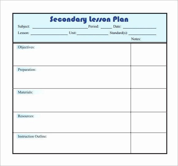 Easy Lesson Plan Template Inspirational 10 Sample Lesson Plans