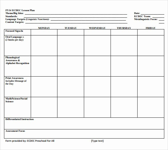 Easy Lesson Plan Template New Sample Lesson Plan 6 Documents In Pdf Word