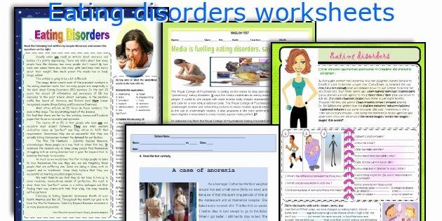 Eating Disorder Meal Plan Template Awesome English Teaching Worksheets Eating Disorders