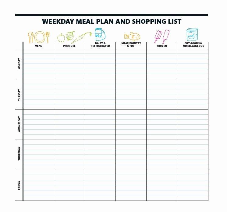Eating Disorder Meal Plan Template Elegant 40 Weekly Meal Planning Templates Template Lab