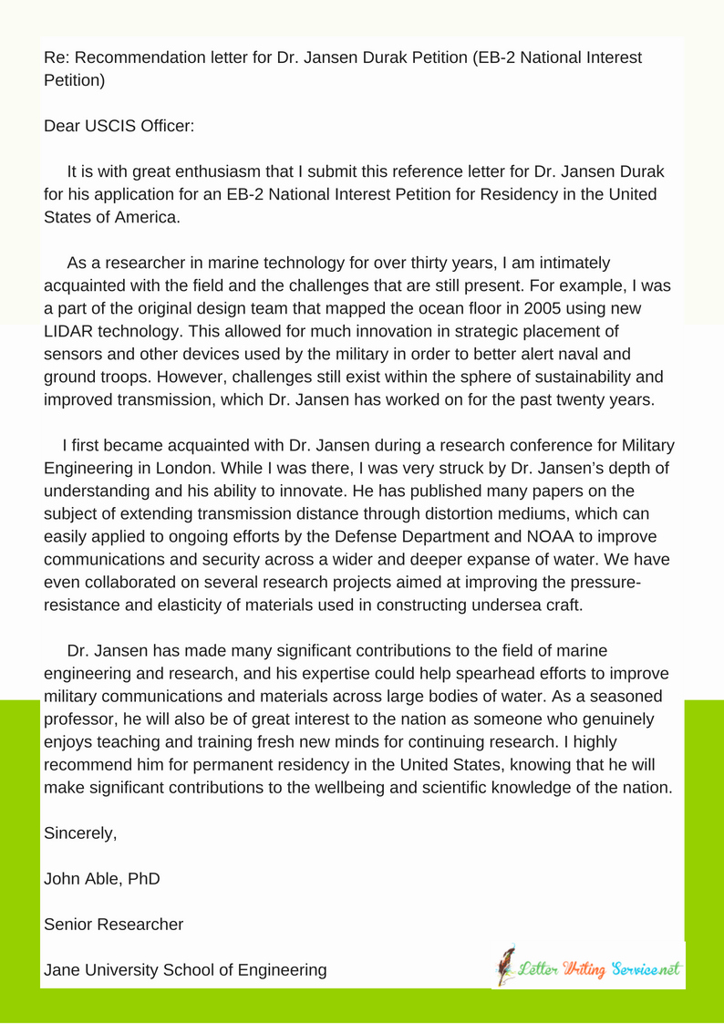 Eb1 Recommendation Letter Sample Beautiful Green Card Reference Letter Eb1 Eb2 O1 format Samples