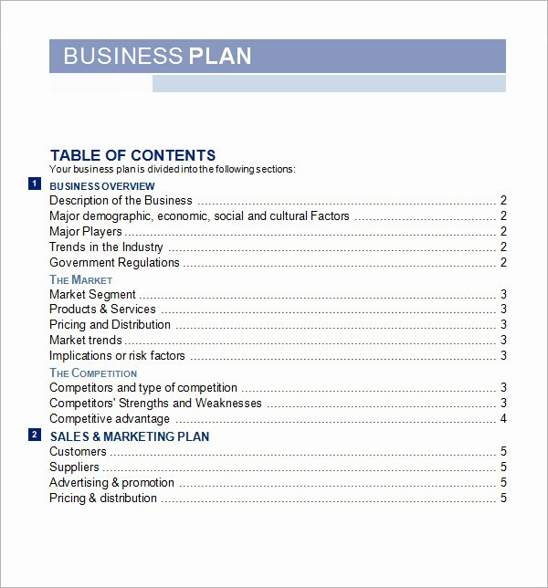 Ecommerce Business Plan Template New Business Plan Template Free
