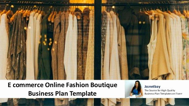 Ecommerce Business Plan Template Unique E Merce Online Fashion Boutique Business Plan Template