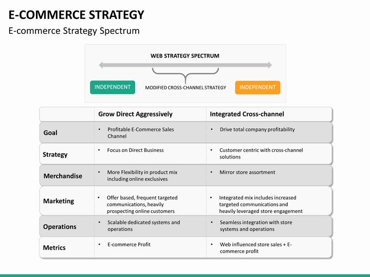 Ecommerce Business Plan Template Unique E Merce Strategy Powerpoint Template