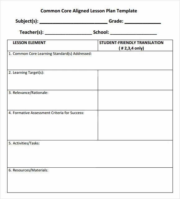 Edi Lesson Plan Template Fresh Lesson Plan Template Mon Core Standards Templates